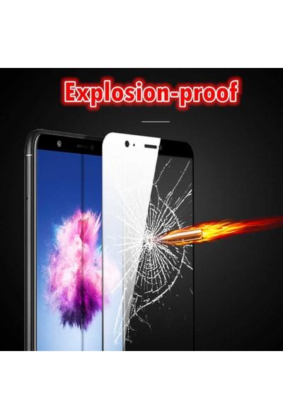 Herdem Huawei Y7 2018 Ekran Koruyucu 5D Tam Kaplayan Cam - Siyah