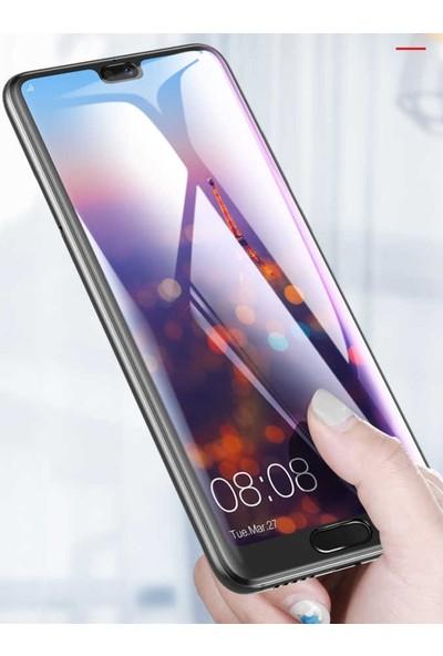 Herdem Huawei P20 Pro Ekran Koruyucu 5D Tam Kaplayan Cam - Siyah
