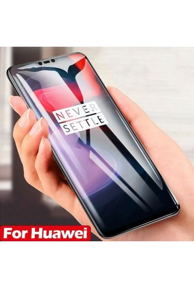 Herdem Huawei Mate 20 Lite Ekran Koruyucu 5D Tam Kaplayan Cam - Siyah