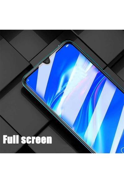 Herdem Oppo A5 2020 Ekran Koruyucu 5D Tam Kaplayan Cam - Siyah