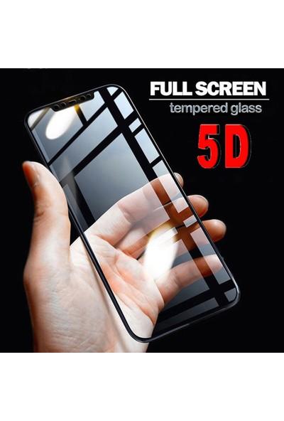 Herdem Xiaomi Mi 8 SE Ekran Koruyucu 5D Tam Kaplayan Cam - Siyah