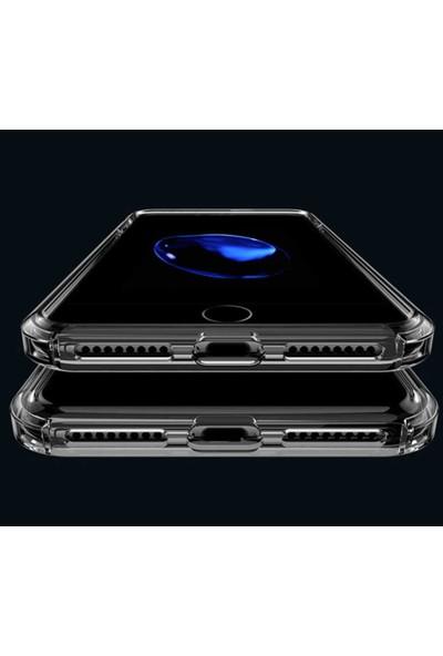 Herdem Apple iPhone 8 Plus Kılıf Kenarları Zırh Ultra Koruma Antishock Şeffaf Sert Silikon