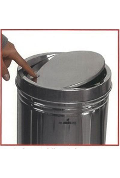Arı Metal 1321 Döner Kapaklı 12 lt Paslanmaz Çöp Kovası