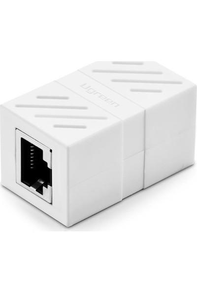 Ugreen RJ45 Cat6 Cat7 Cat8 Ethernet Kablo Uzatma Aparatı Beyaz