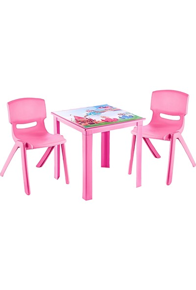 Banadabul Fiore Pembe Prenses Banadabul Çocuk Masa Sandalye Takımı H50 2s