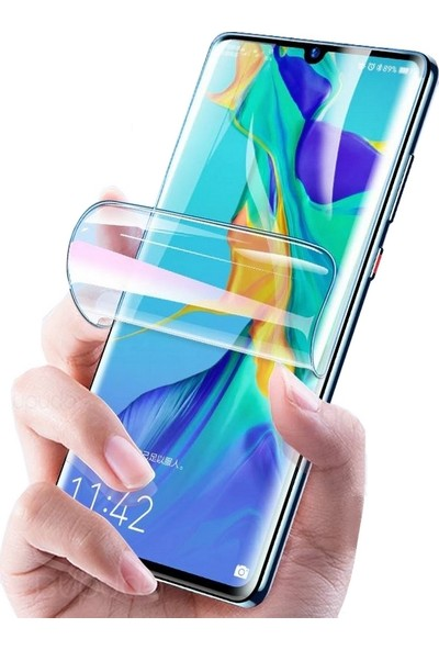 Smody Huawei P30 Pro Tam Ekran Kavisli Polymer Nano Full Ekran Koruyucu