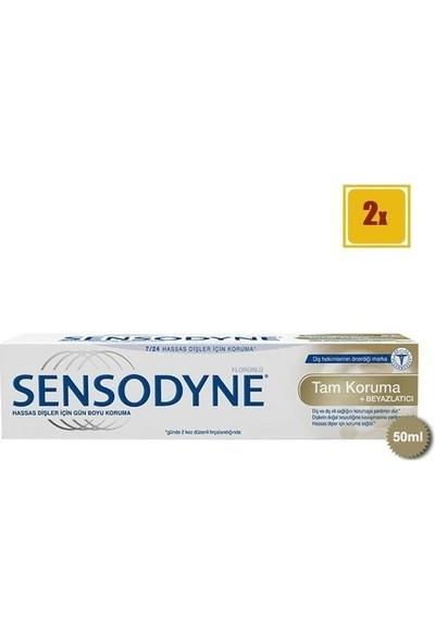 Sensodyne Tam Koruma ve Beyazlatıcı Diş Macunu 50 ml x 2 + Sensodyne Diş Eti Bakımı Yumuşak Diş Fırçası x 2