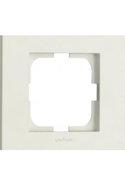 Ovivo Grano Uydu Prizi F-Konnektör Dişi Ekranı Priz Mekanizma Çerçeve Beyaz