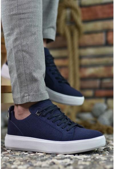 Riccon Süet Lacivert Erkek Sneaker