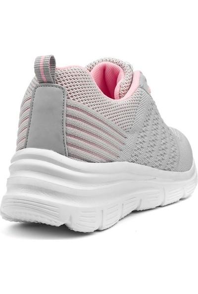 Awidox Buz Pembe Yazlık Triko Kadın Spor Ayakkabı