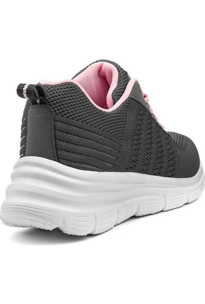 Awidox Füme Pembe Yazlık Triko Kadın Spor Ayakkabı