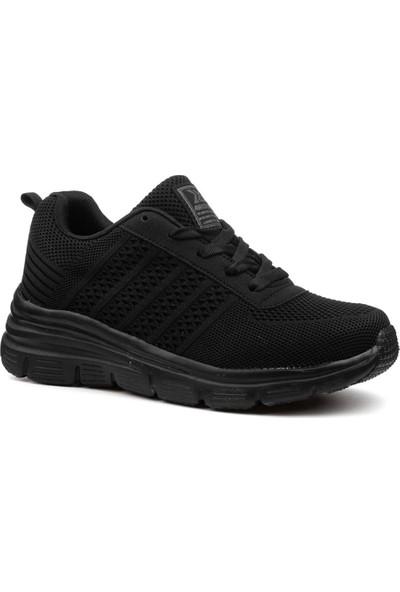 Awidox Siyah Yazlık Triko Kadın Spor Ayakkabı