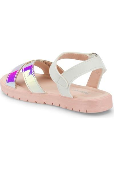 Polaris 512475.P Beyaz Kız Çocuk Sandalet