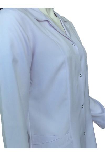 Palmiye Üniforma Tesettür Boy Beyaz Doktor Önlüğü