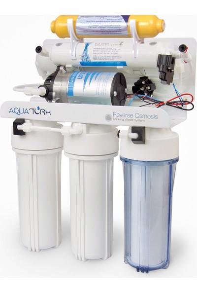 Aquatürk Tezgah Altı Açık Kasa Su Arıtma Cihazı 6 Aşamalı Pompalı