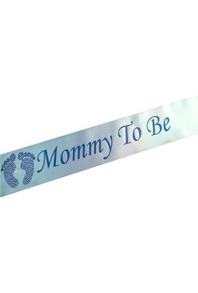 Partypark Anne Oluyorum Kuşak Mavi Baby Shower Kuşak