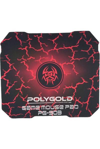 Polygold PG-903 Profesyonel Oyuncu Mouse + Mousepad Siyah Kırmızı