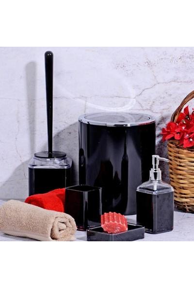 Kosova PBY-078 Akrilik 5 Parça Kare Banyo Seti Siyah