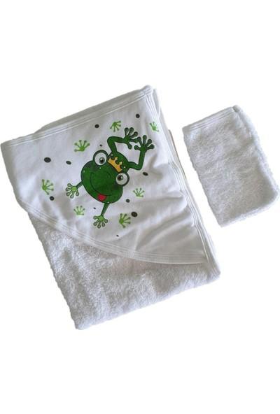 Akyüz Bebe Bebek Kurbağa Havlu Kese Seti