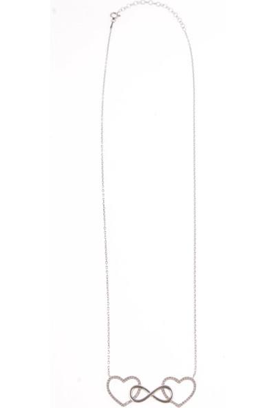 In Dubai Silver İn Dubai Silver Sonsuz Aşk Kolye 925 Ayar Gümüş Kolye DBSK2257