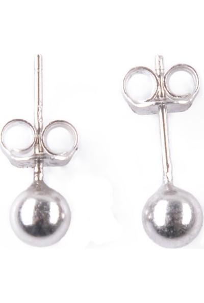 In Dubai Silver İn Dubai Silver Rodyum Top İğne Gümüş Küpe DBSK3015