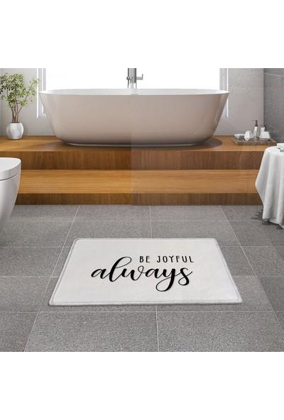 Evaşk Banyo Paspası 53 x 86 İpeksi Halı Yüzey Kaymaz Taban