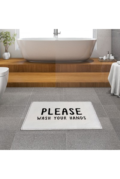Evaşk Banyo Paspası 40 x 60 İpeksi Halı Yüzey Kaymaz Taban