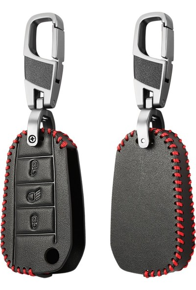 Alisveristime Deri Anahtar Kılıfı Sustalı Anahtar Peugeot 3008 508 408 2008 407 307 4008