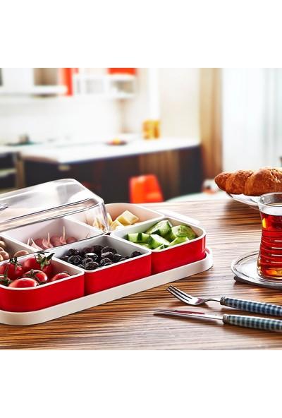 Plastart 6 Bölmeli Kahvaltı Seti | Kahvaltılık