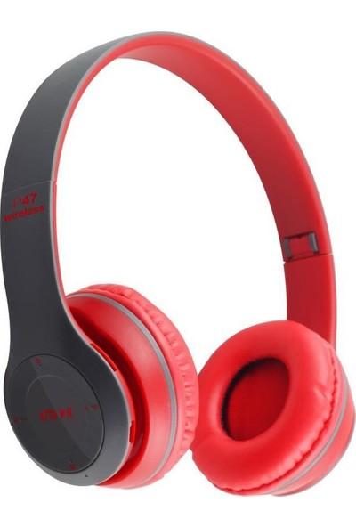 Thorqtech TQ-P47 Bluetooth Kulaklık Siyah Kırmızı