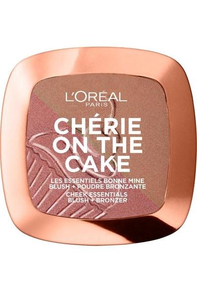 L'oréal Paris Cherie On The Cake Allık ve Bronzlaştırıcı Pudra - 02 Dark Chocolate