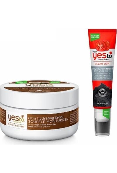 Yes To Hindistan Cevizli Ultra Nemlendirici Sufle 50 Ml+Kömür Arındırıcı Soyulabilir Maske 59 ml