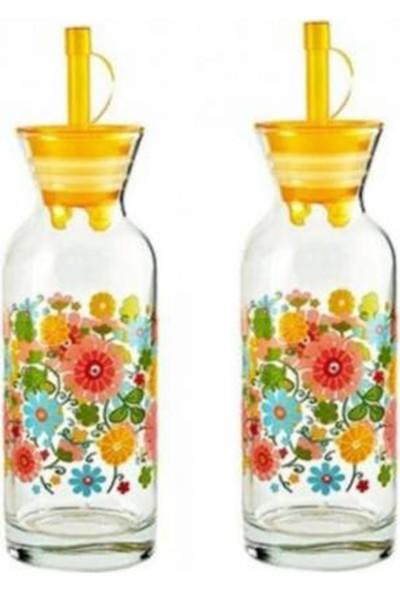 Paşabahçe Village 2 Adet Çiçek Desenli Yağlık Limonluk 43804