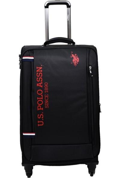 U.s. Polo Assn. Valiz Orta Boy Siyah Kumaş Valiz