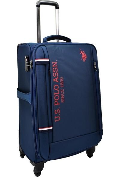 U.s. Polo Assn. Valiz Orta Boy Lacivert Kumaş Valiz