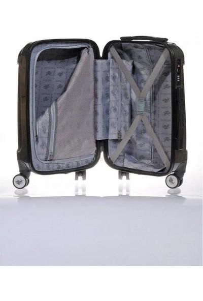 U.s. Polo Assn. Valiz Kabin Boy Gri Policarbon Valiz
