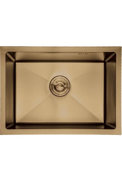 Crauf Altın Tezgahaltı Evye 480 x 600 x 210 mm