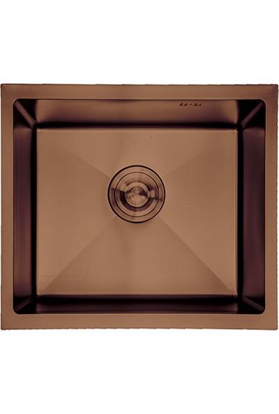 Crauf Bakır Tezgahaltı Evye 440 x 440 x 210 mm