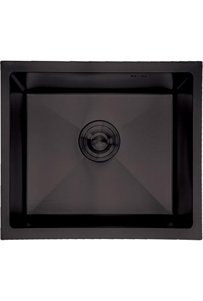 Crauf Siyah Tezgahaltı Evye 440 x 440 x 210 mm