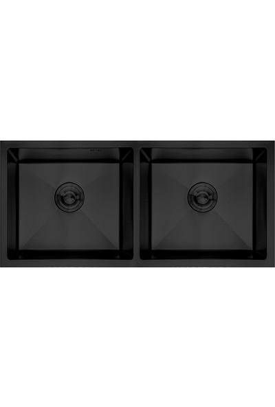 Crauf Siyah Tezgahaltı Evye 450 x 800 x 228 mm