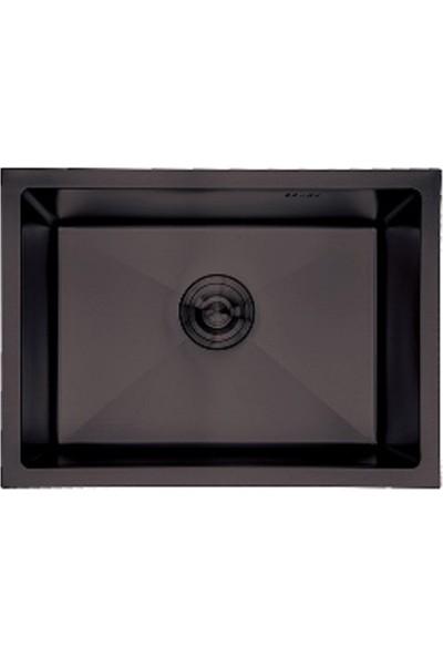 Crauf Siyah Tezgahaltı Evye 480 x 600 x 210 mm
