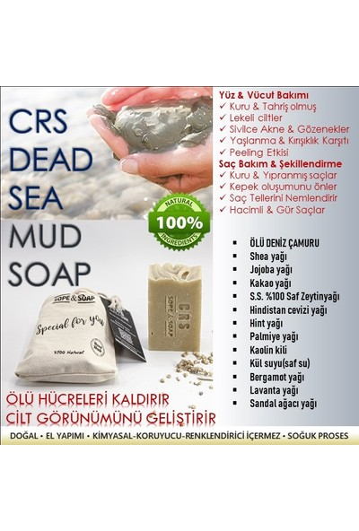 Crs Ölü Deniz Çamuru Doğal Sabunu