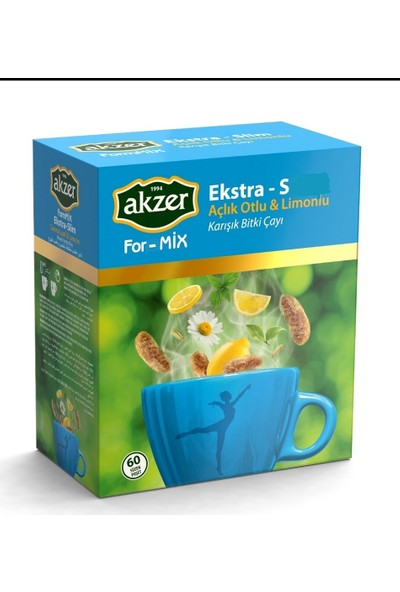Akzer For-mix Ekstra (S) Çay 60lı