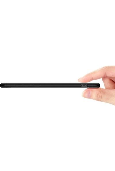 Herdem Huawei Mate 10 Lite Kılıf 360 Derece Tam Koruma Sert Rubber Siyah