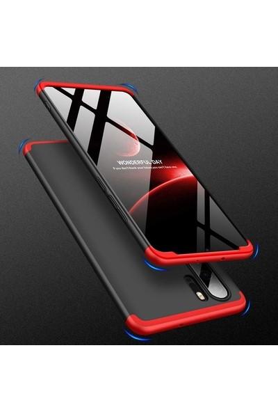 Herdem Huawei P30 Pro Kılıf 360 Derece Tam Koruma Sert Rubber Kırmızı