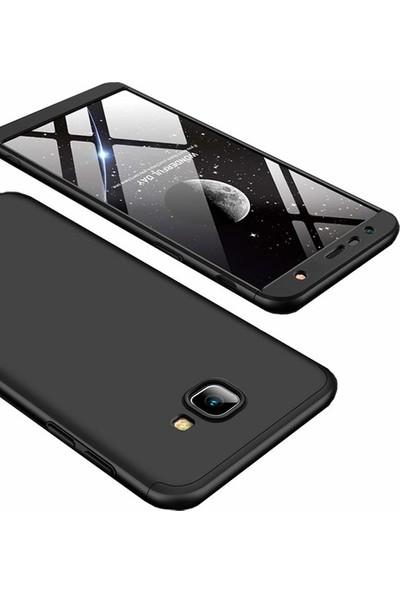 Herdem Samsung Galaxy J6 Plus Kılıf 360 Derece Tam Koruma Sert Rubber Siyah