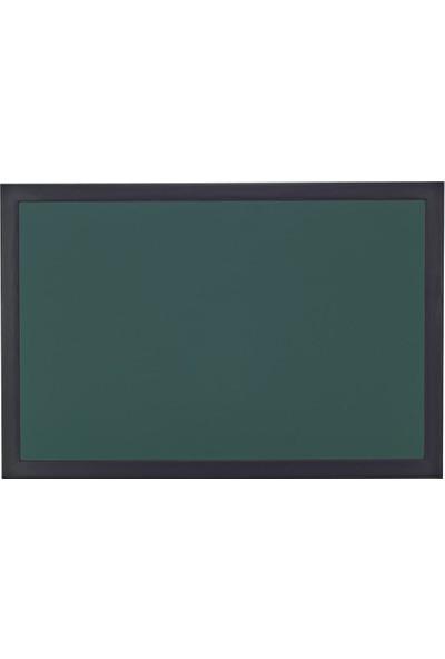 Chalky Kara Tahta Siyah Çerçeveli Tebeşir Yazı Tahtası 50 x 110 cm Yeşil