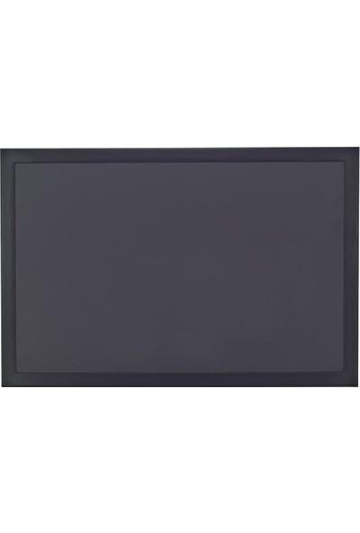 Chalky Kara Tahta Siyah Çerçeveli Tebeşir Yazı Tahtası 50 x 70 cm Siyah