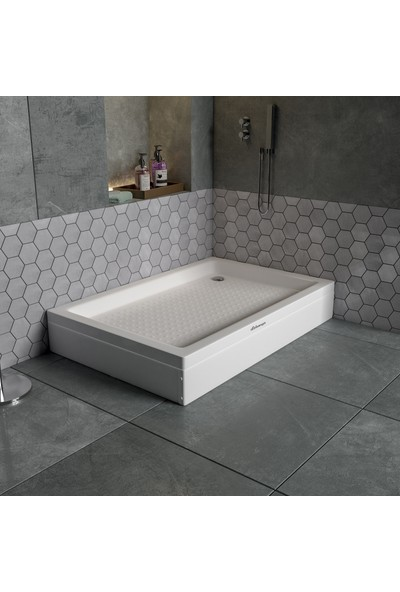 Dbbanyo Dikdörtgen Duş Teknesi Panelli 80*90*20 cm