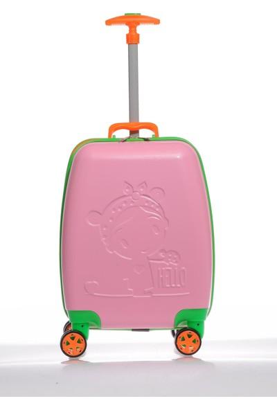 Mybag Mybag84959 Pembe Kız Çocuk Kabin Boy Valiz